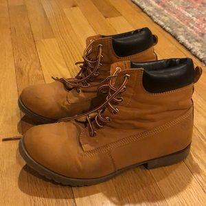 Women's Tan/Orange Work Boots size 8.5